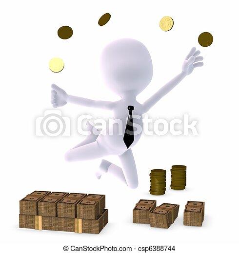 rich business man - csp6388744