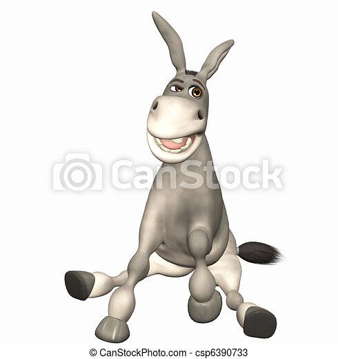 Dibujos de toon burro  3d render csp6390733  Buscar Clipart