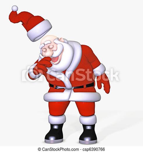 Stock Illustration of santa gets a cold - 3d render csp6390766 ...