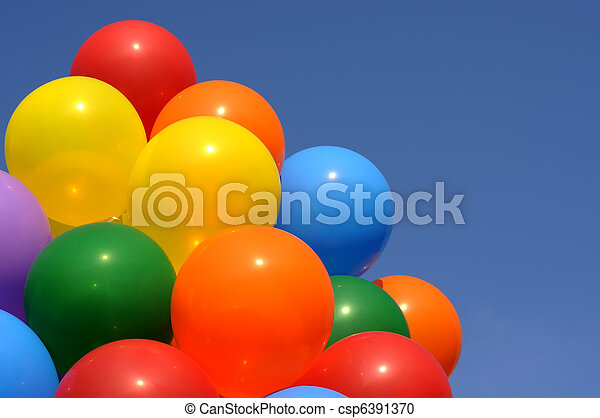 multicolored balloons - csp6391370