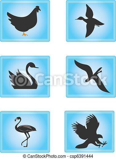 Bird Icons - csp6391444