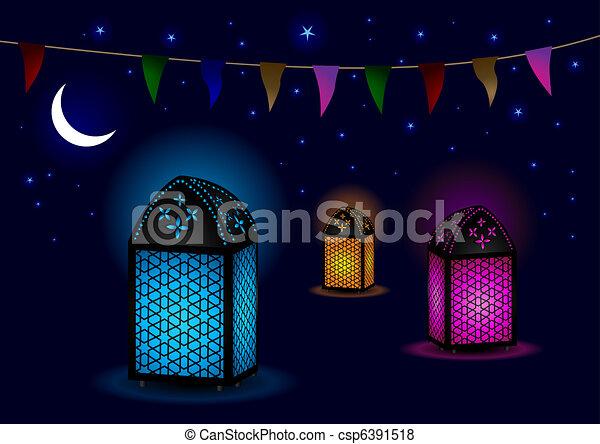 stock foto sch ne islamisch lampen halbmond sternen stock bilder bilder lizenzfreies. Black Bedroom Furniture Sets. Home Design Ideas