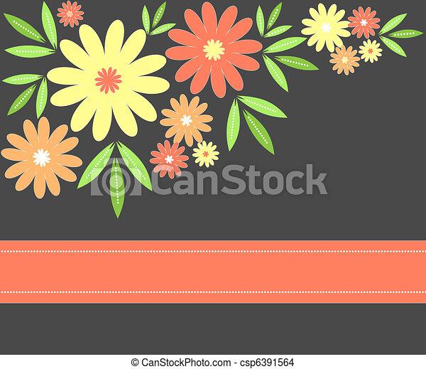Flowers design - csp6391564