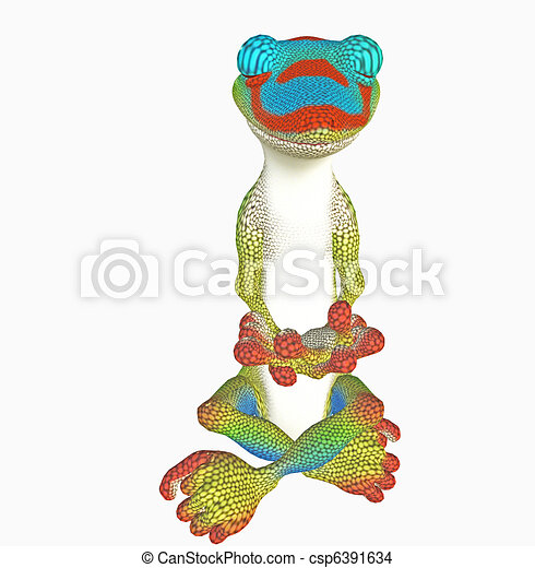 yoga gecko - csp6391634