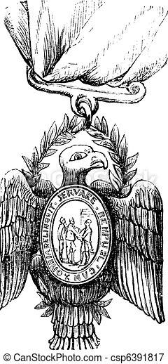 Society of the Cincinnati vintage engraving - csp6391817