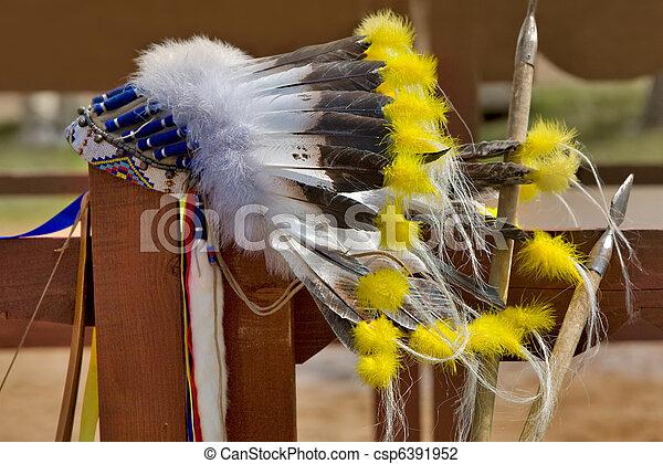headdress of Native north American Indian  - csp6391952