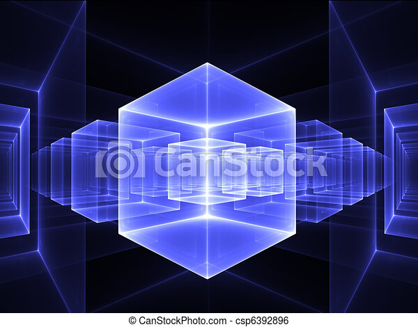 blue cubic perspective - csp6392896