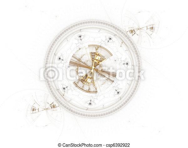 Mechanism, ancient metallic cogwheel - csp6392922