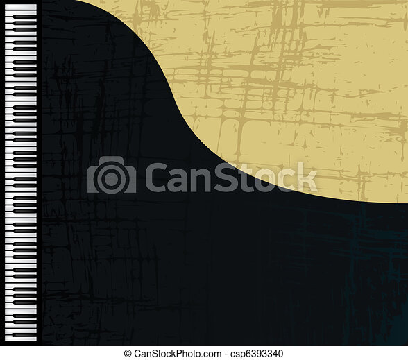 Grunge piano profile - csp6393340