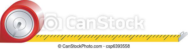 spring tape measure - csp6393558