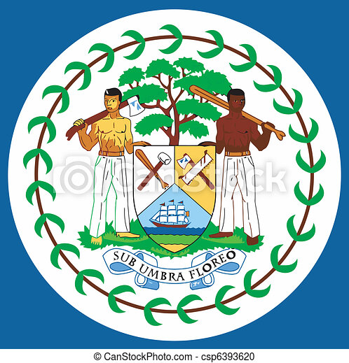 coat of arms of  Belize - csp6393620
