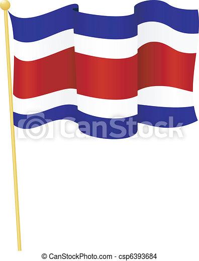 flag of   Costa Rica. vector - csp6393684