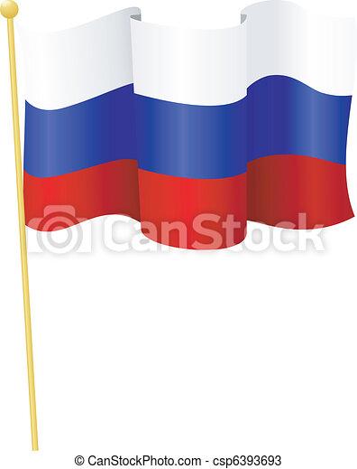flag of   Russia. vector - csp6393693