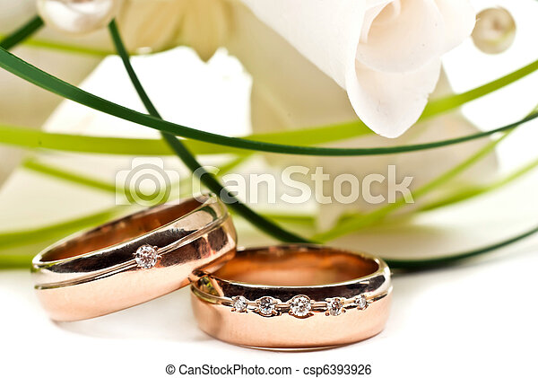 Wedding rings - csp6393926