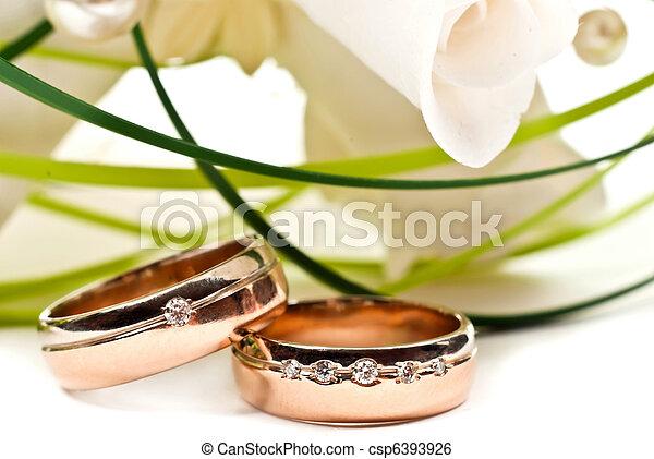 Wedding rings - csp6393926