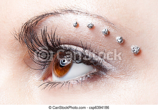 eye make-up on woman  - csp6394186