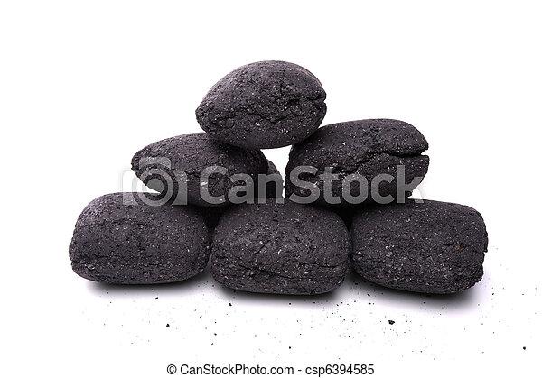 Images de charbon briquette barbecue tas de charbon briquette csp6394585 recherchez - Briquette de charbon ...