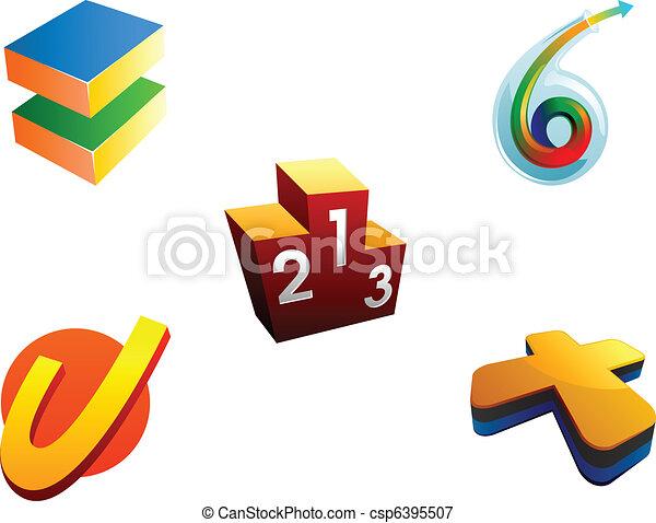 achievement logo elements - csp6395507