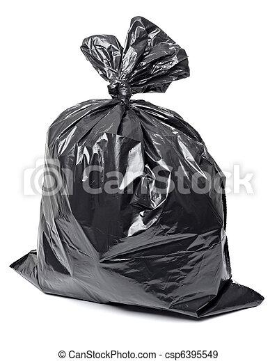 garbage bag trash waste - csp6395549