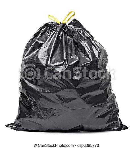 garbage bag trash waste - csp6395770