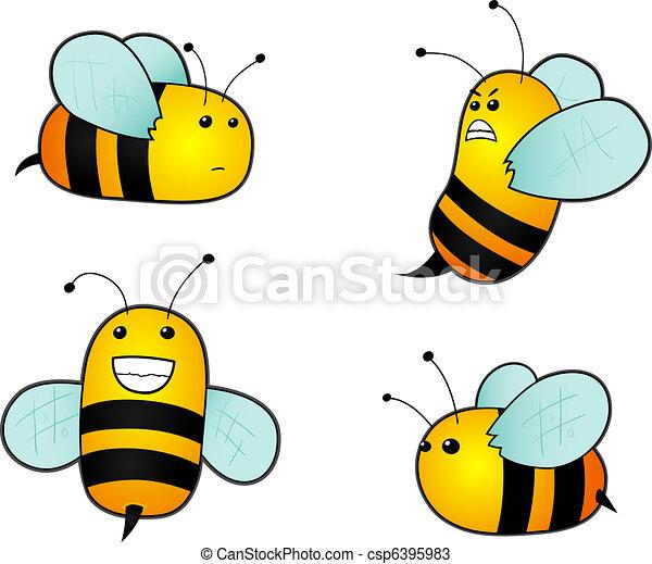Cartoon bees - csp6395983