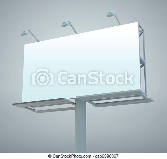 Outdoor billboard - csp6396067