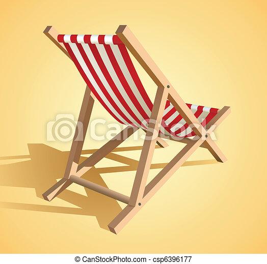 Beach chair  - csp6396177