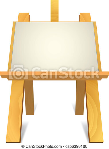 wooden easel - csp6396180