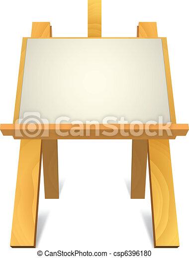 wooden easel - csp6396180