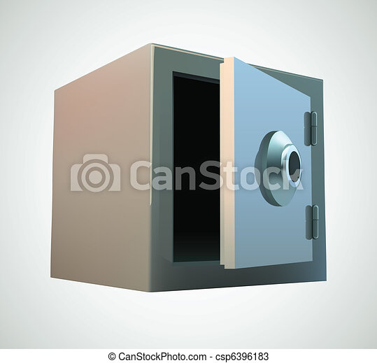 Bank safe illustration - csp6396183