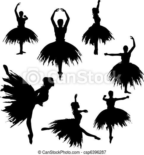 Classical Ballerina Silhouettes  - csp6396287