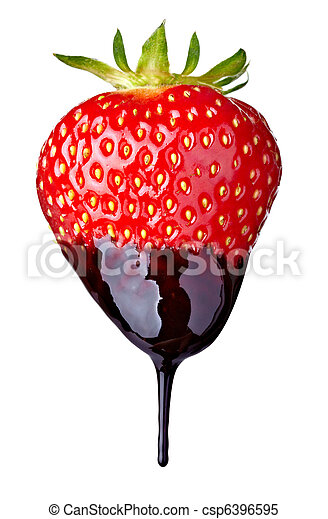 strawberry with chocolate candy dessert fruit  - csp6396595
