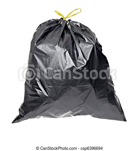 garbage bag trash waste - csp6396694