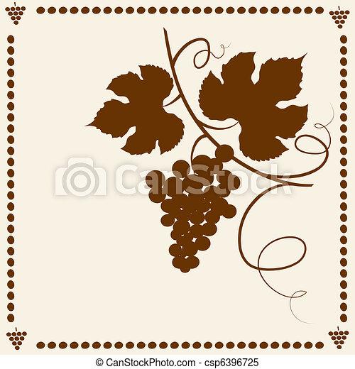 Garden grape vines frame. - csp6396725