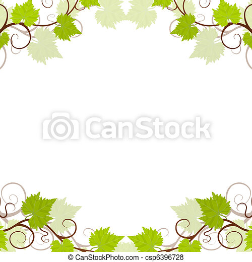 Garden grape vines frame. - csp6396728