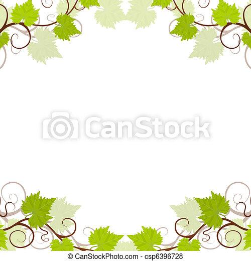 Garden grape vines frame. - csp6396728