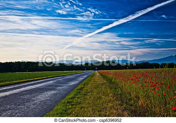 Swiss Rural road - csp6396952