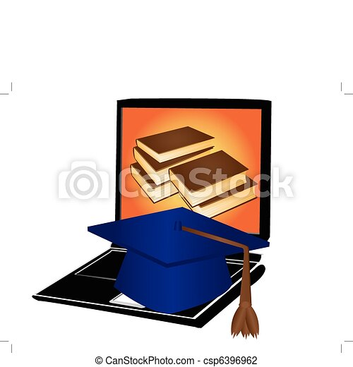 web education and distance learning - csp6396962