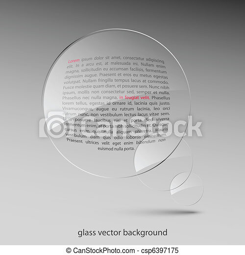 Glass background. Vector illustration. Eps10 - csp6397175