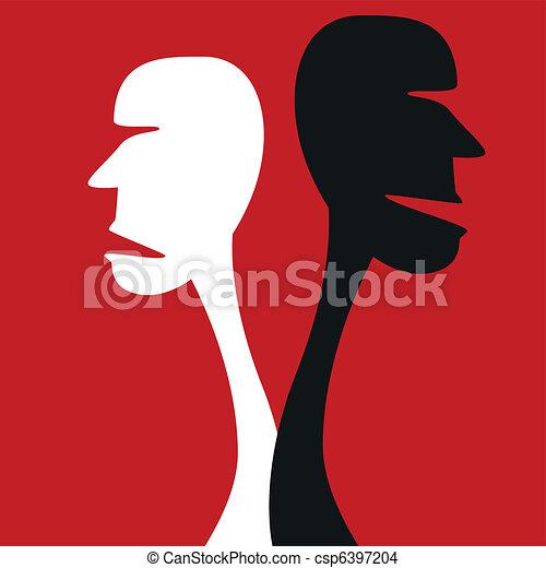 Human disagreement concept. - csp6397204