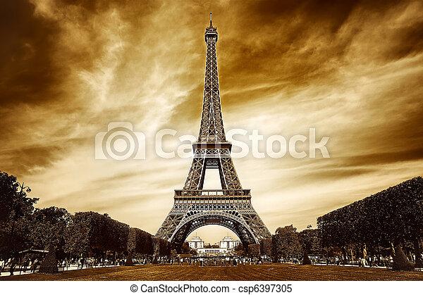 Eiffel tower in Paris - csp6397305