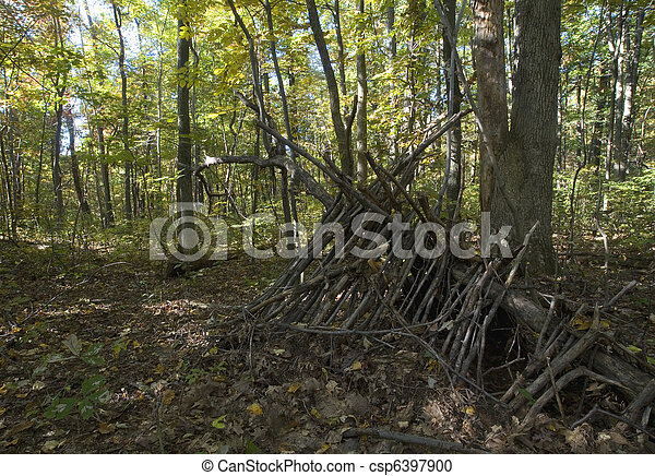 how to build a lean to shelter in the woods