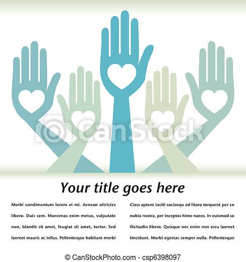 Helpful hands design. - csp6398097