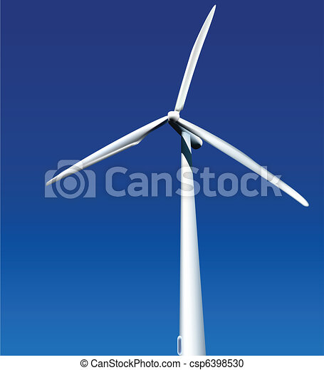 Wind Generator. Vector - csp6398530
