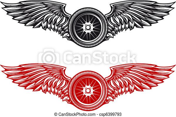 Wheel tattoo - csp6399793