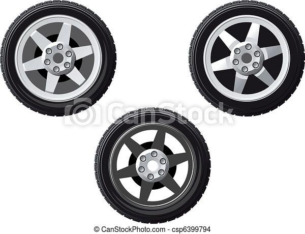 Set of isolated wheels - csp6399794