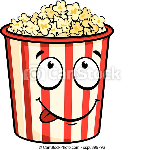 Cartoon popcorn - csp6399796