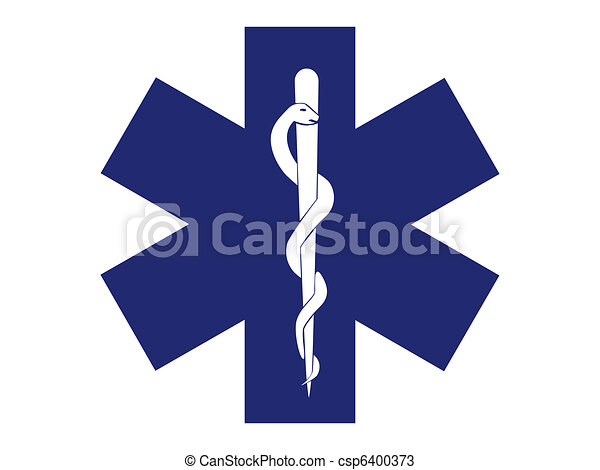 emergency medical symbol blue cross - illustration - csp6400373