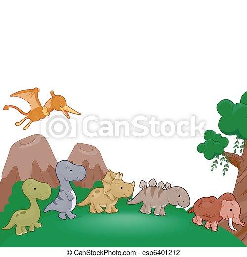 Dinosaurs Parade - csp6401212
