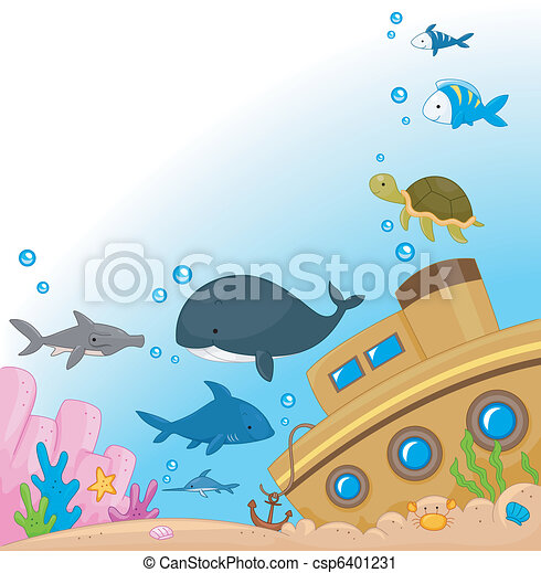 Underwater Animals - csp6401231